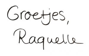 Groetjes van Raquelle